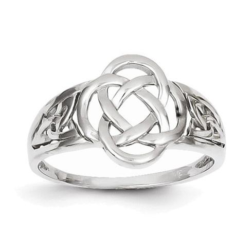 14kt White Gold Celtic Knot Ring