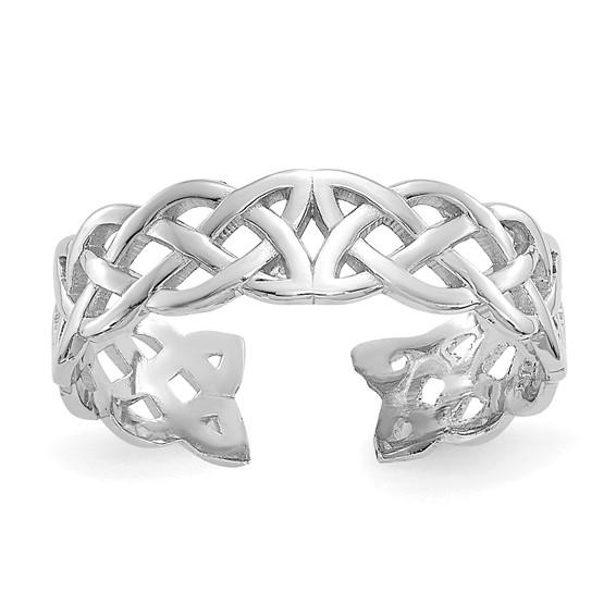 14kt White Gold Celtic Knot Toe Ring