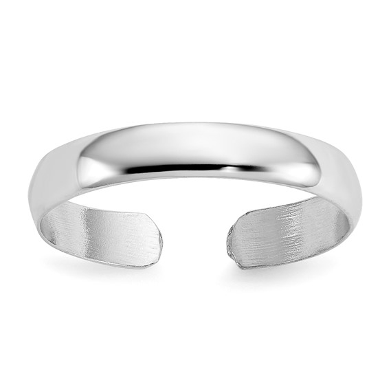 14kt White Gold Polished 3mm Toe Ring