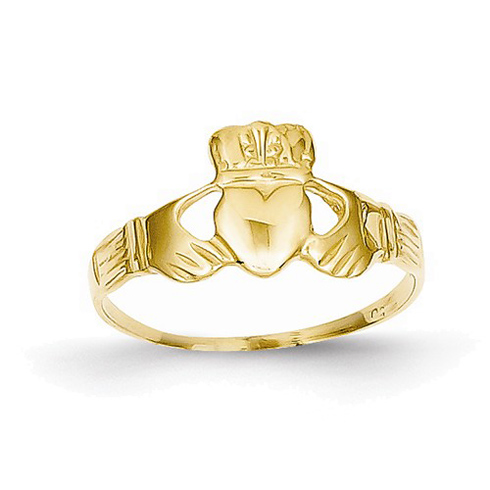 14kt Yellow Gold Small Claddagh Ring