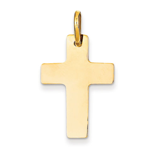 14kt 15/16in Polished Cross Charm