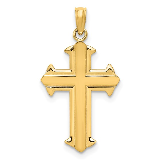 14kt Yellow Gold 3/4in Passion Cross Pendant