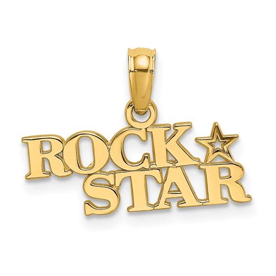 14kt Yellow Gold Rock Star Pendant