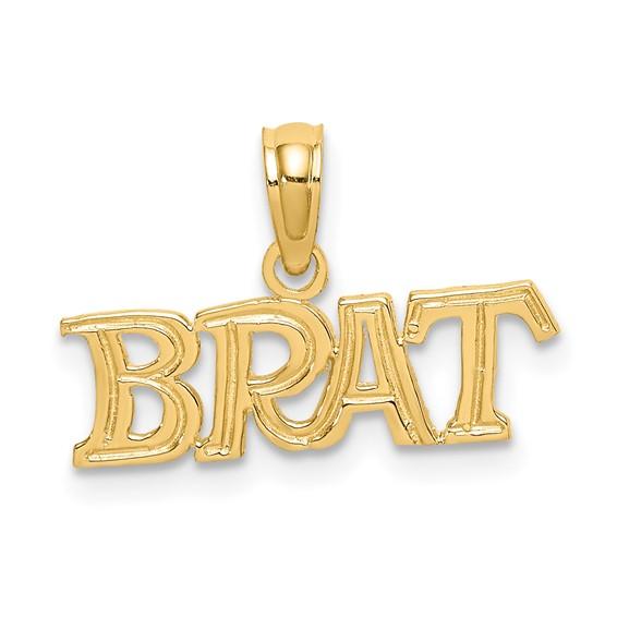 14kt Yellow Gold Polished Brat Pendant