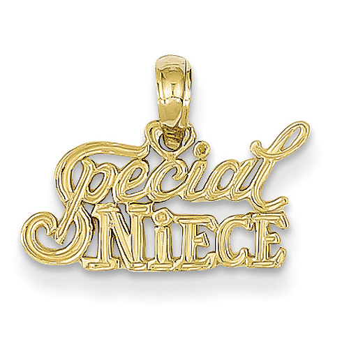 14k Yellow Gold Special Niece Pendant