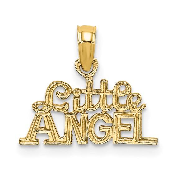 14kt Yellow Gold Little Angel Pendant