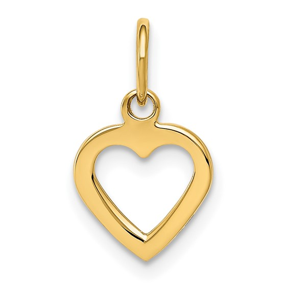 14kt Yellow Gold 3/8in Heart Charm