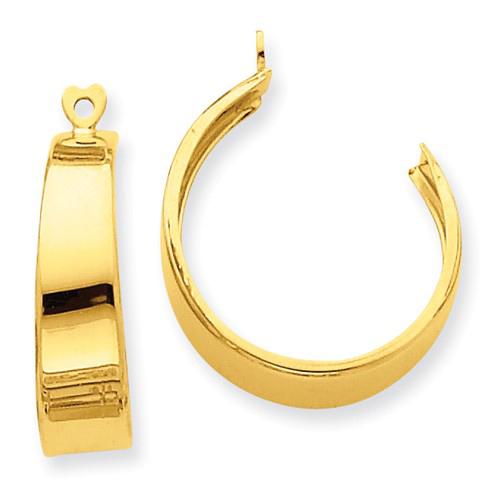 14kt Yellow Gold 3/4in Hoop Earring Jackets