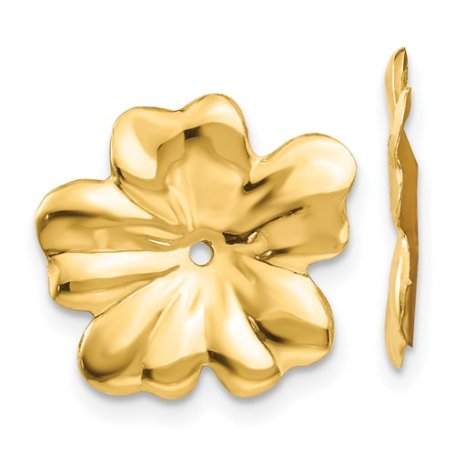 14kt Yellow Gold Floral Earring Jackets