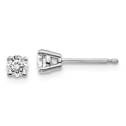 14k White Gold 1/3 ct Lab Grown Diamond Stud Earrings