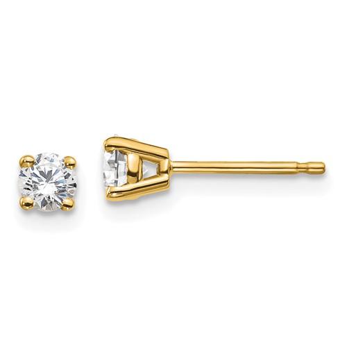 14k Yellow Gold 1/3 ct Lab Grown Diamond Stud Earrings