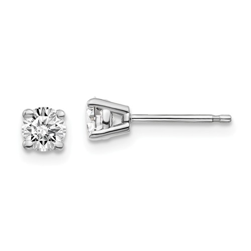 14k White Gold 1/2 ct Lab Grown Diamond Stud Earrings