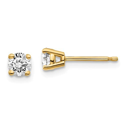 14k Yellow Gold 1/2 ct Certified Lab Grown Diamond Stud Earrings