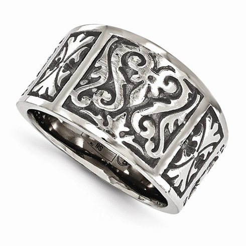 Edward Mirell Gray Cast Titanium Ring with Heritage Design