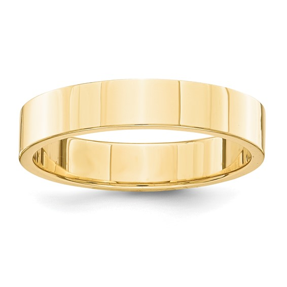 14kt Yellow Gold 4mm Flat Wedding Band