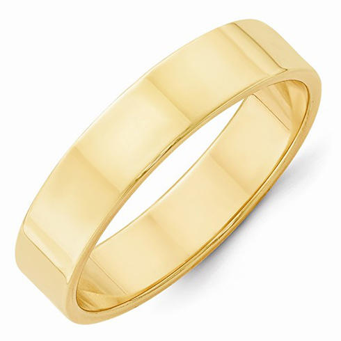 14kt Yellow Gold 5mm Flat Wedding Band