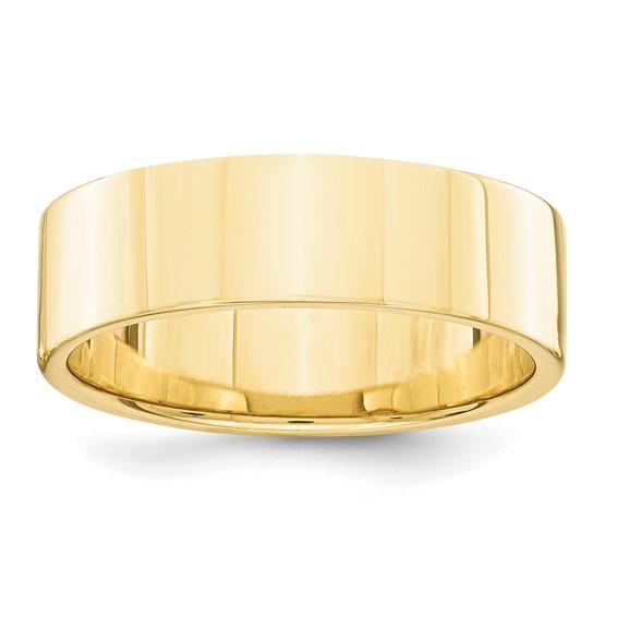 14kt Yellow Gold 6mm Flat Wedding Band
