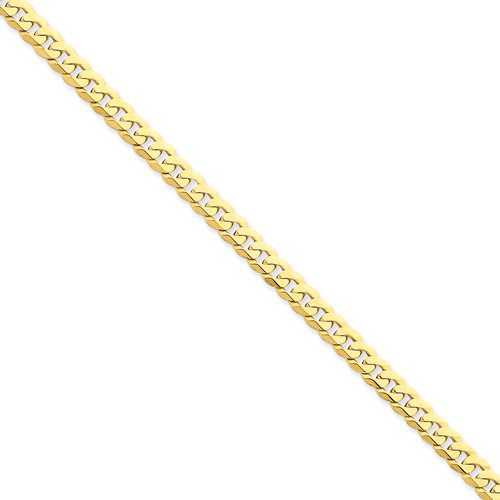 14kt Yellow Gold 24in Beveled Curb Chain 5.75mm
