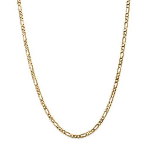 14kt Yellow Gold 24in Flat Figaro Chain 4.0mm