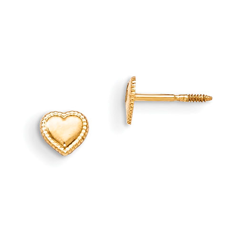 14kt Yellow Gold Madi K Heart Earrings