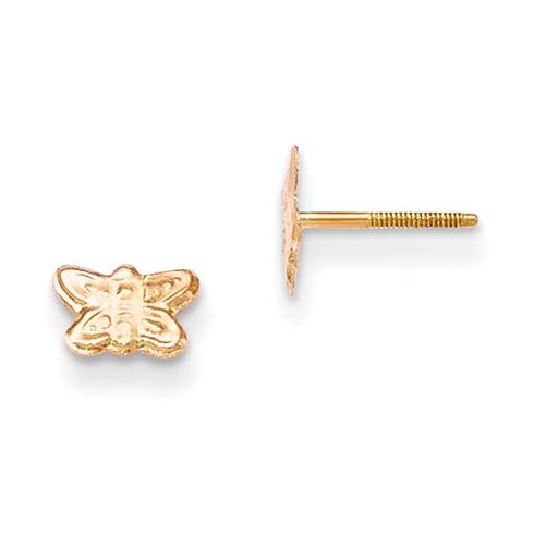 14kt Yellow Gold Madi K Butterfly Earrings