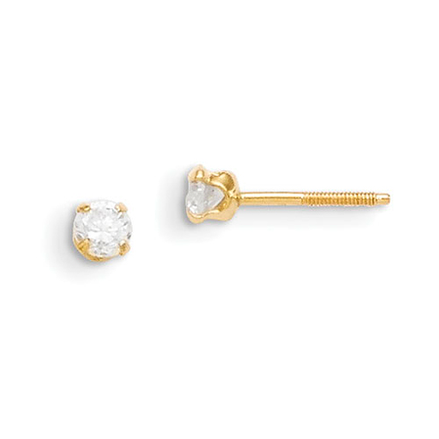 14kt Yellow Gold Madi K 3mm Synthetic Spinel Earrings