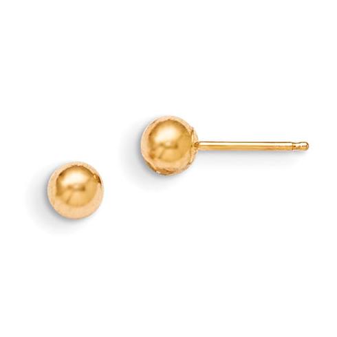 14kt Yellow Gold Madi K 4mm Ball Earrings