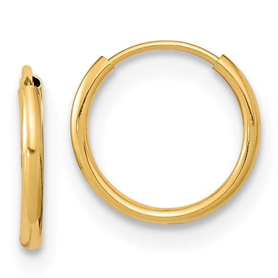 14kt Yellow Gold 3/8in Madi K Endless Hoop Earrings