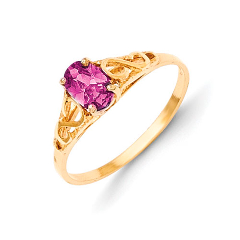 14kt Yellow Gold Madi K Synthetic Alexandrite Ring