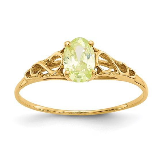 14kt Yellow Gold Madi K Synthetic Peridot Ring