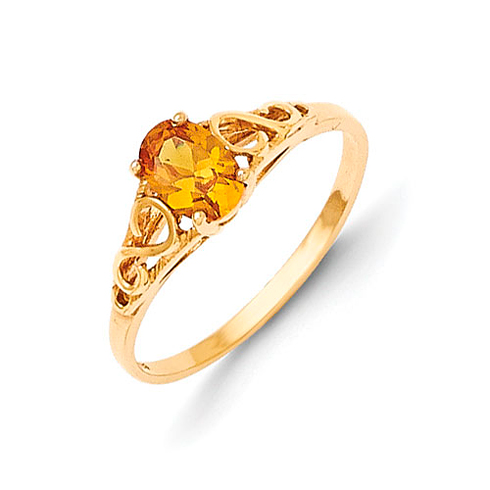14kt Yellow Gold Madi K Synthetic Citrine Ring