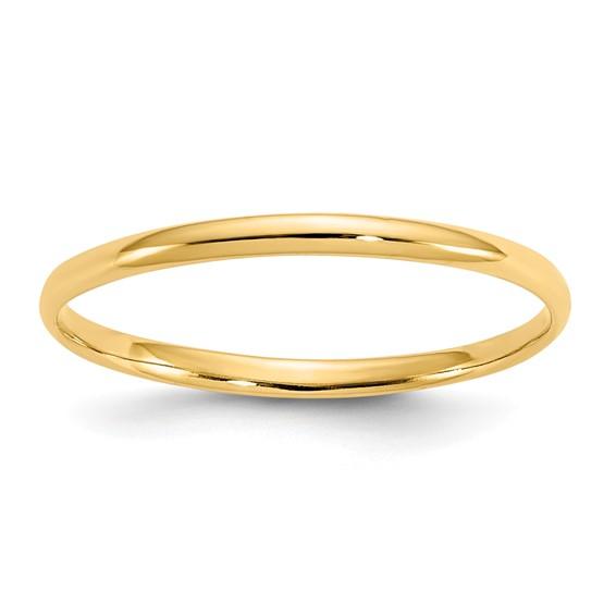 14kt Yellow Gold Madi K Polished Baby Ring