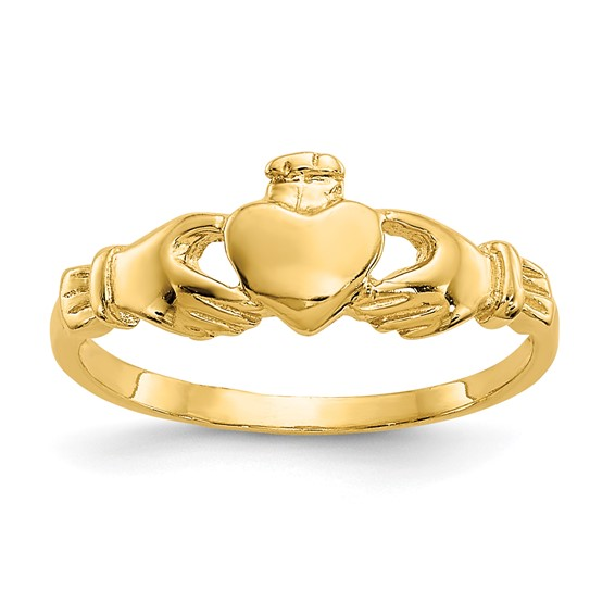 14kt Yellow Gold Madi K Claddagh Baby Ring