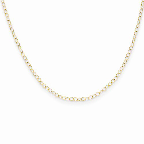 14kt Yellow Gold 15in Madi K Cable Chain