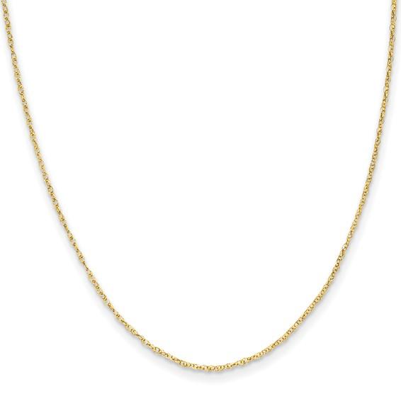 14k Yellow Gold 13in Madi K Kid's Rope Chain