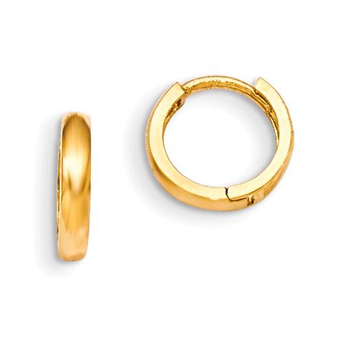 14kt Yellow Gold 7/16in Madi K Children's Hinged Hoop Earrings