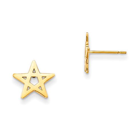 14kt Yellow Gold Madi K Children's Star Post Earrings