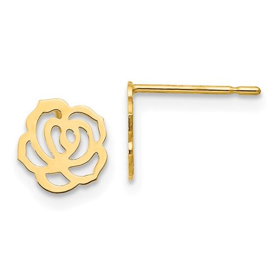14kt Yellow Gold Madi K Children's Rose Post Earrings