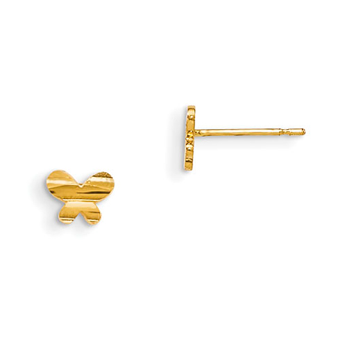 14kt Yellow Gold Madi K Children's Butterfly Post Earrings