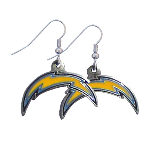 San Diego Chargers NFL Dangling Earrings