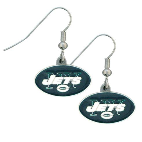 New York Jets NFL Dangling Earrings