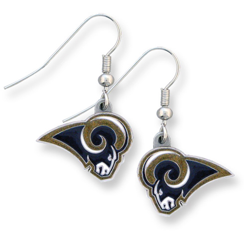 Los Angeles Rams NFL Dangling Earrings