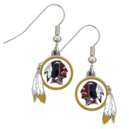 Washington Redskins NFL Dangling Earrings