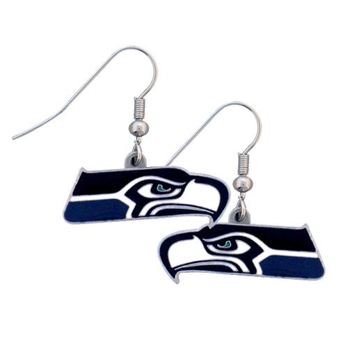 Seattle Seahawks NFL Dangling Earrings