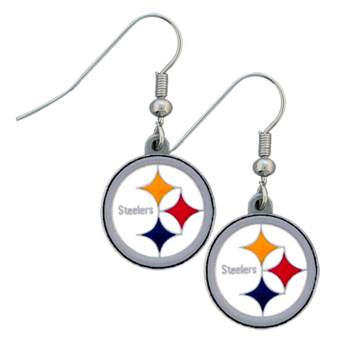 Pittsburgh Steelers NFL Dangling Earrings
