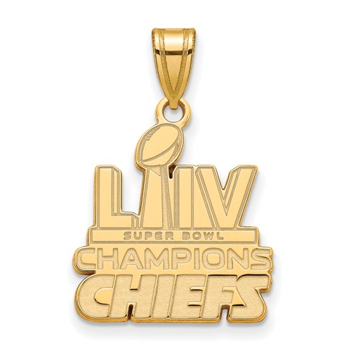GP Sterling Silver Kansas City Chiefs Super Bowl LIV Pendant 3/4in