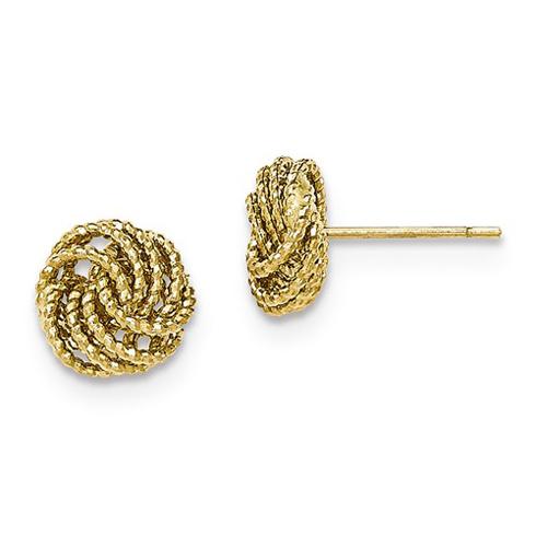 14kt Yellow Gold 3/8in Italian Love Knot Earrings
