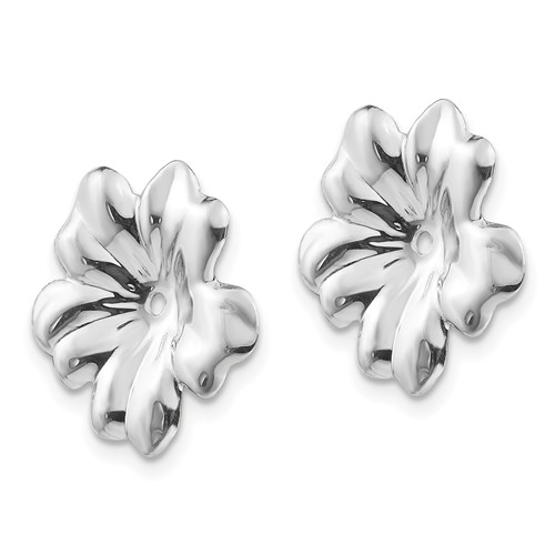 14kt White Gold Floral Earring Jackets