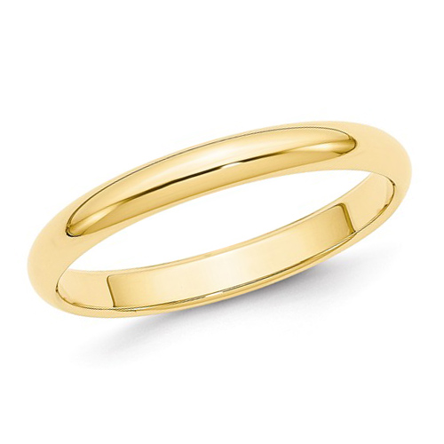 10kt Yellow Gold 3mm Polished Wedding Band