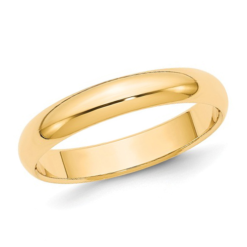 10kt Yellow Gold 4mm Polished Wedding Band